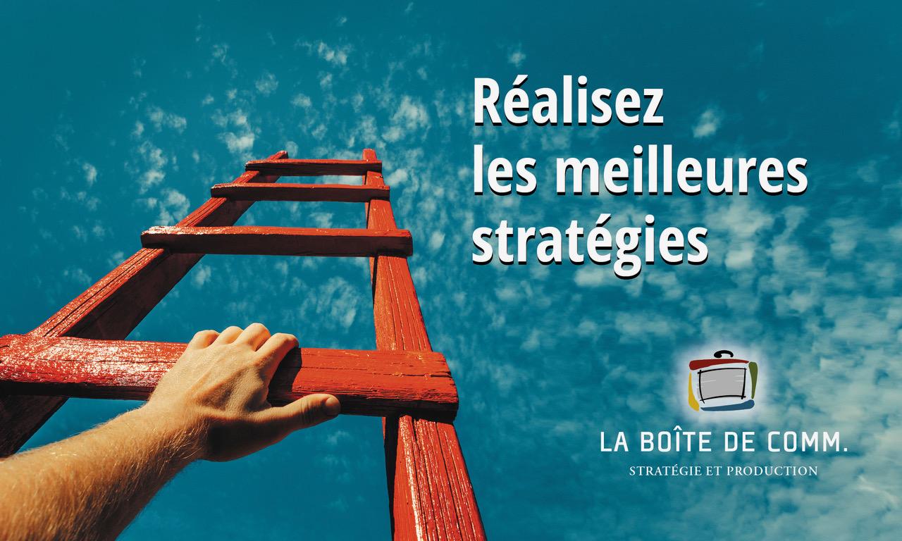 La Boîte de Comm, Stratégie & Production